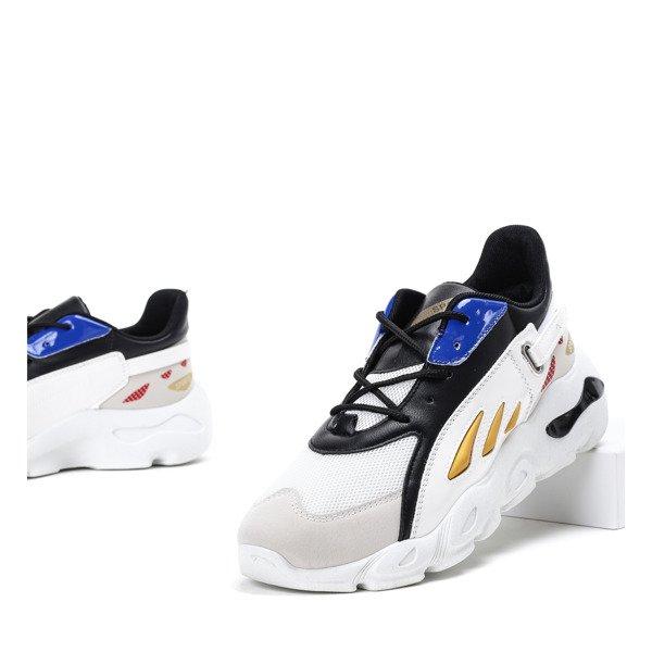 a6e612412 Białe męskie buty sportowe z kolorowymi wstawkami Thoma - Obuwie