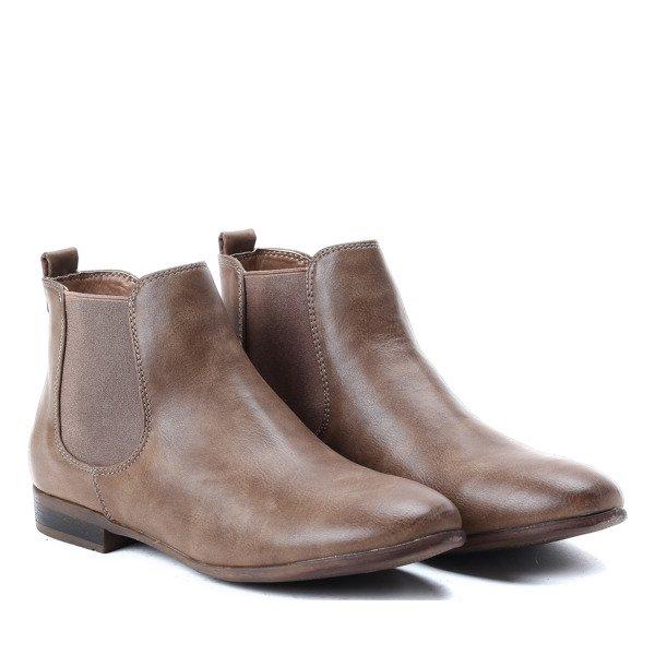 5b59b27baa5ea Klasyczne, brązowe botki - Obuwie - Brązowy | Royalfashion.pl - sklep z  butami online