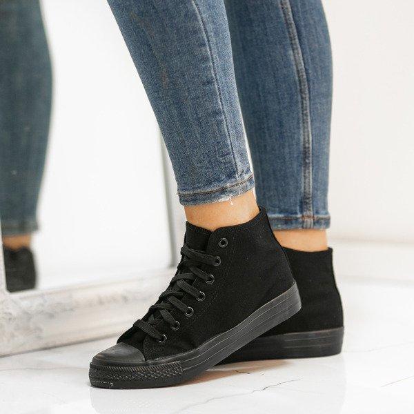 63720b9dd64a1 Klasyczne trampki w kolorze czarnym Laurette - Obuwie - Czarny |  Royalfashion.pl - sklep z butami online