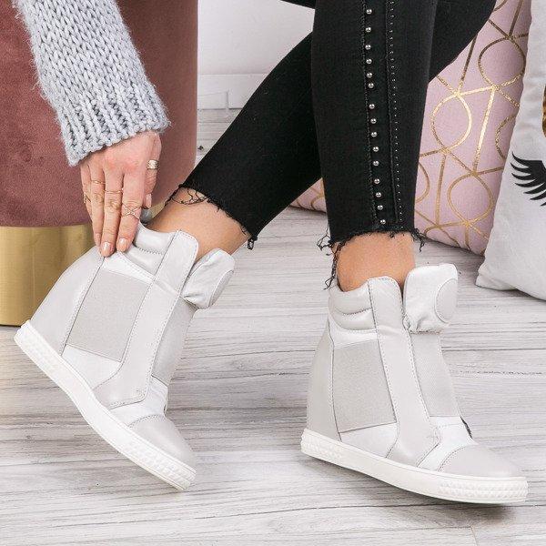 Białe sneakersy na krytym koturnie Jayla Obuwie Biały