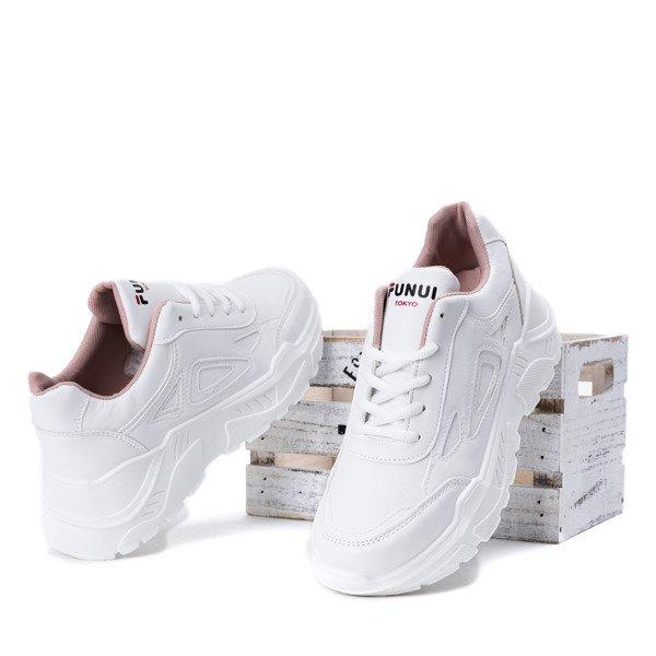 87106fa8532a5e ... Białe buty sportowe na grubej podeszwie Holly- Obuwie Kliknij, aby  powiększyć ...