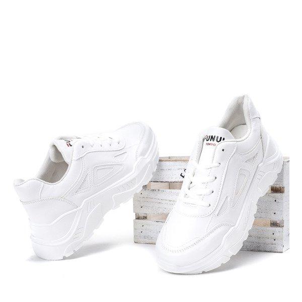 c3d3147207465 Białe buty sportowe na grubej podeszwie Holly - Obuwie - Biały ...