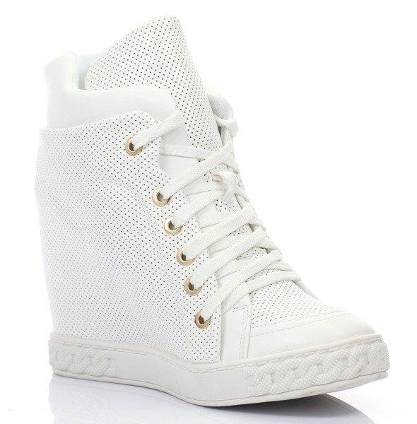 5a0174b9dec3a Białe, sneakersy eko skóra - Obuwie - | Royalfashion.pl - sklep z ...