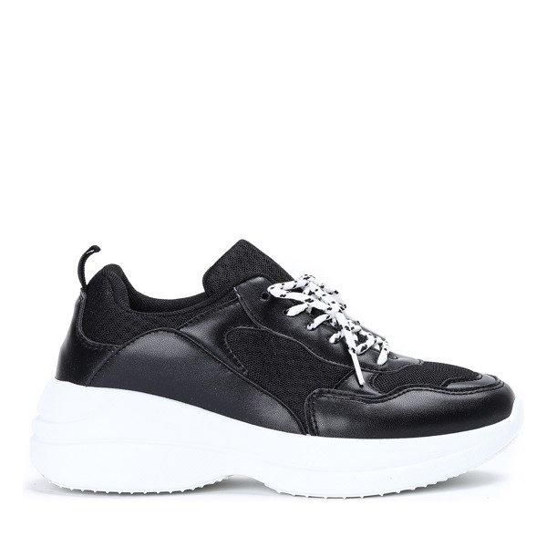 1aa7a722 ... Czarne buty sportowe na grubej podeszwie Hailey - Obuwie Kliknij, aby  powiększyć ...