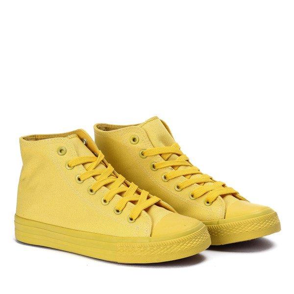 4f83fd4daccc8 ... Klasyczne trampki w kolorze żółtym Laurette - Obuwie Kliknij, aby  powiększyć ...