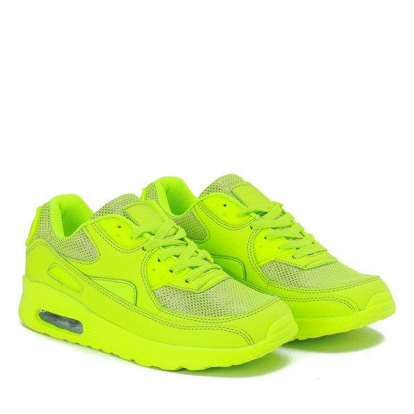 4fd9f476bf23b7 Neonowe zielone sportowe buty Quirmea - Obuwie Kliknij, aby powiększyć ...