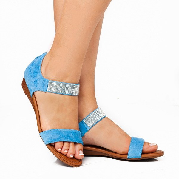 c4f4ce40 Niebieskie sandały na niskiej koturnie Acellia - Obuwie Kliknij, aby  powiększyć ...