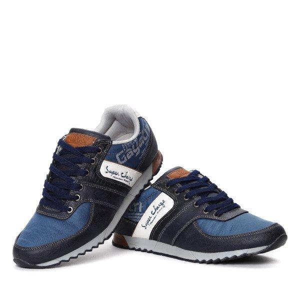Niebiesko białe buty sportowe Obuwie