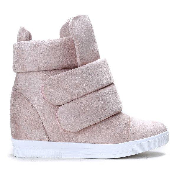 8b6d8f3cf0a1c Różowe sneakersy na krytej koturnie Oh Little Girl - Obuwie - Różowy ...