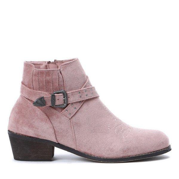 b9c33de0 Różowe sztyblety Lesley - Obuwie - Różowy | Royalfashion.pl - sklep ...