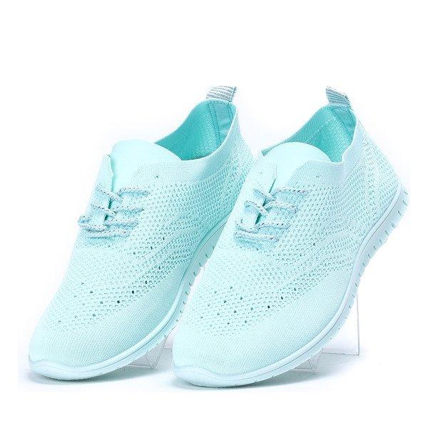 9db3138af7768 Kliknij, aby powiększyć · Sportowe buty z ażurowym wykończeniem w kolorze  miętowym Atleticca ...