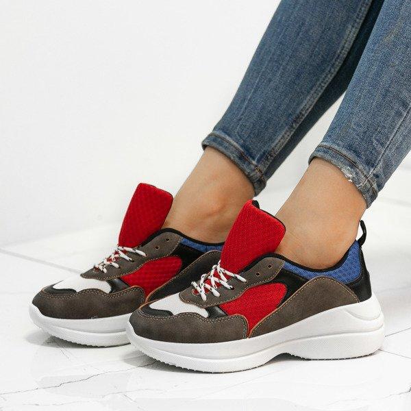 5bfbfaa6 Wielokolorowe buty sportowe na grubej podeszwie Hailey - Obuwie Kliknij,  aby powiększyć ...