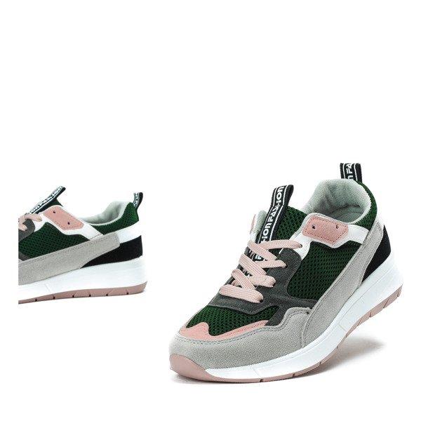 3c7aebbcc489f Kliknij, aby powiększyć; Zielone buty sportowe z kolorowymi wstawkami  Martien - Obuwie Kliknij, aby powiększyć ...