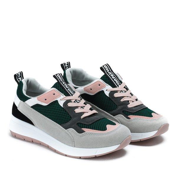 0afb32e4ea52f Kliknij, aby powiększyć; Zielone buty sportowe z kolorowymi wstawkami  Martien - Obuwie Kliknij, aby powiększyć ...