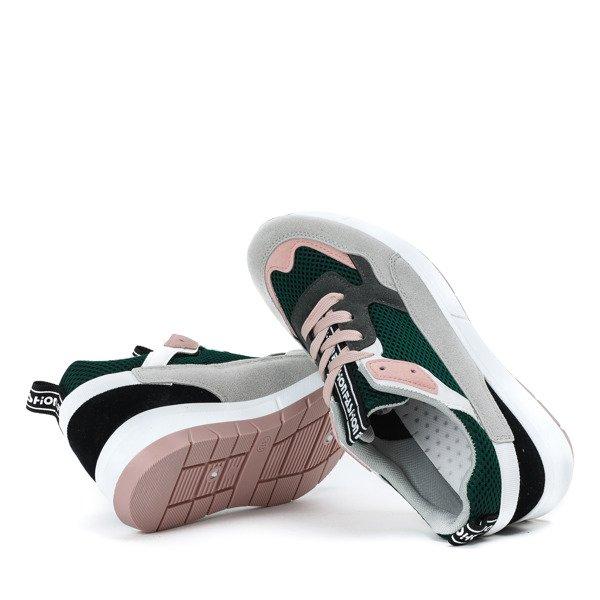 bef9da4819 Zielone buty sportowe z kolorowymi wstawkami Martien - Obuwie ...