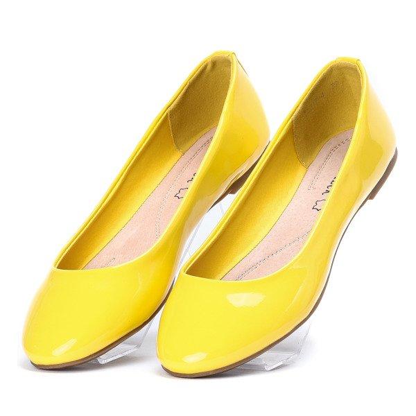 bfbe020f74c664 Żółte baleriny lakierowane Go West - Obuwie - Żółty | Royalfashion ...