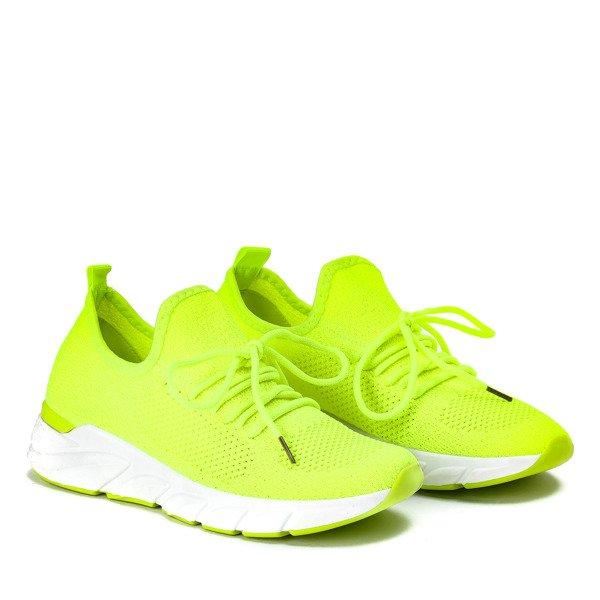 Zolte Neonowe Buty Sportowe Irmea Obuwie Zolty Neonowy Royalfashion Pl Sklep Z Butami Online