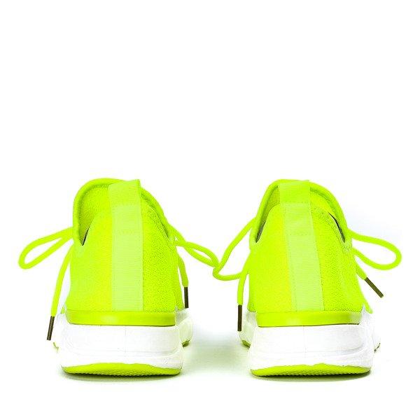 09302401 ... Żółte neonowe buty sportowe Irmea - Obuwie Kliknij, aby powiększyć ...