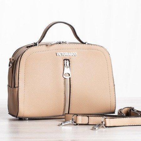 Beżowa mała torebka na ramię - Torebki