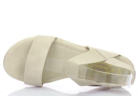 Beżowe sandały Akurima - Obuwie