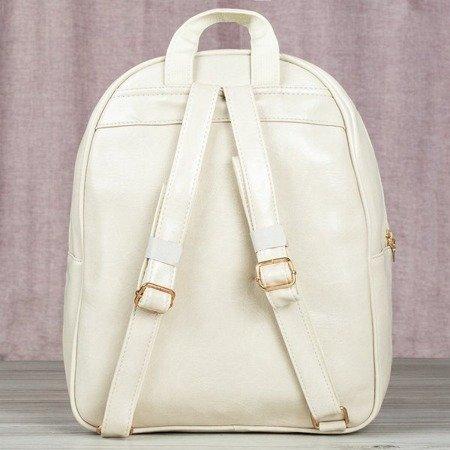 Beżowy plecak ze skóry eko - Plecaki