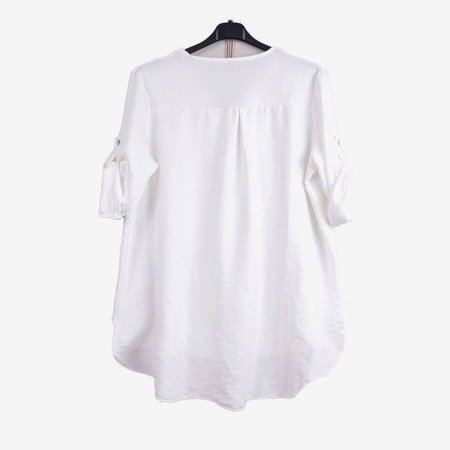 Biała damska tunika klasyczna - Odzież