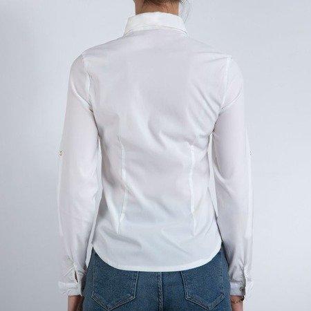Biała koszula damska - Bluzki