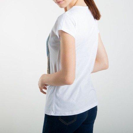 Biała koszulka z krótkim rękawem - Bluzki