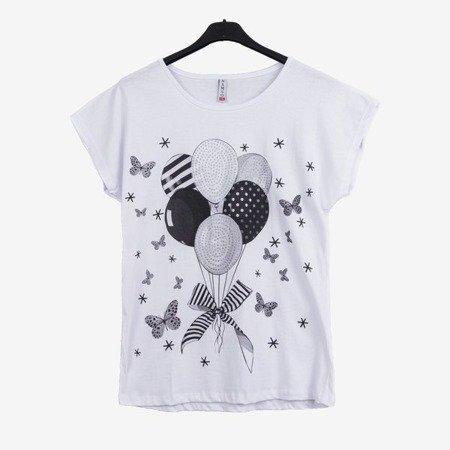 Biała koszulka z krótkim rękawem - Odzież