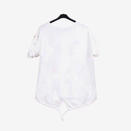 Biała tunika damska z nadrukiem - Odzież