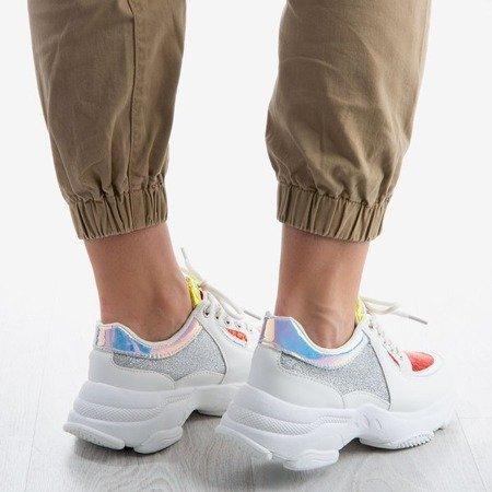 Białe buty sportowe z błyszczącymi wstawkami Outta My Head - Obuwie