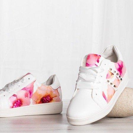 Białe buty sportowe z ozdobami Marisa - Obuwie
