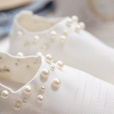 Białe buty sportowe z perełkami Dayanah - Obuwie