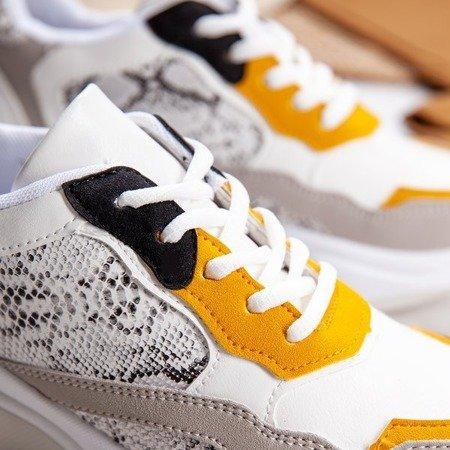 Białe buty ugly shoes ze wstawkami Nikaragua - Obuwie