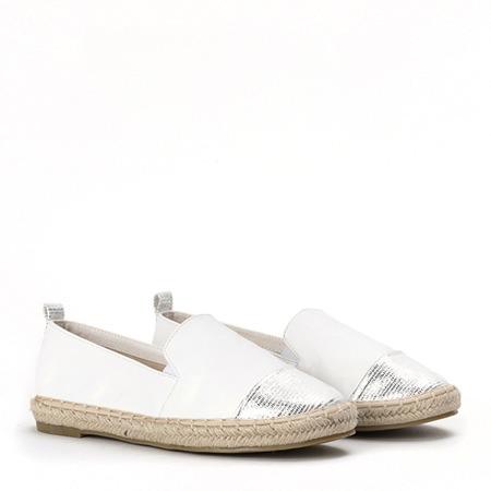 Białe espadryle z ozdobnym noskiem Mackenzie - Obuwie