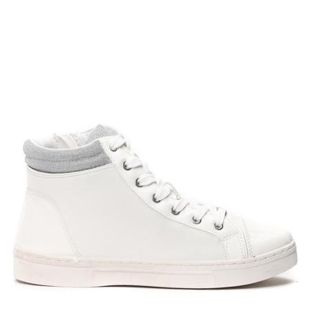 Białe sneakersy na koturnie- Obuwie