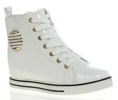 Białe sneakersy ze zdobieniem - Obuwie