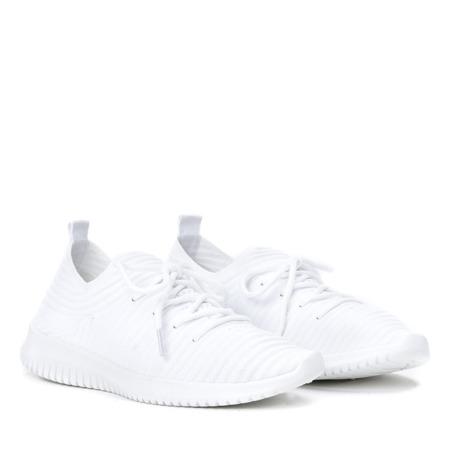 Białe sportowe buty na wyższej podeszwie Kaduna - Obuwie