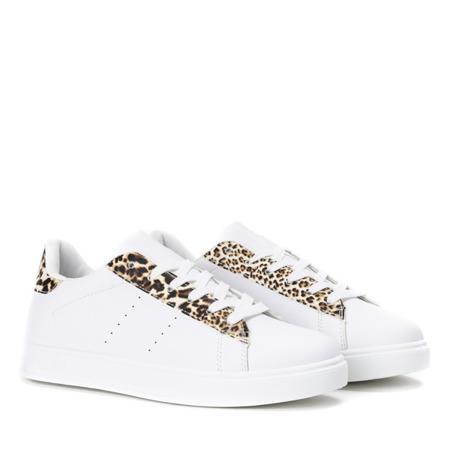 Białe sportowe buty w panterkę Colorful Panther - Obuwie