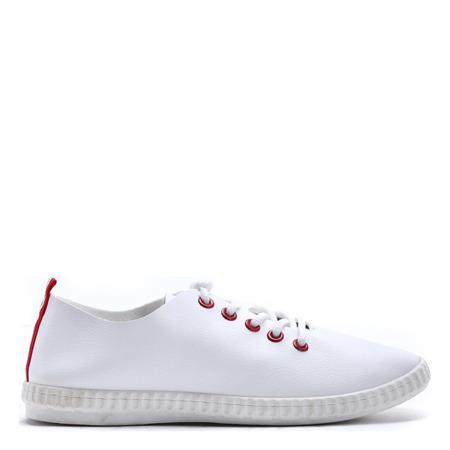 Białe, sportowe trampki Maria - Obuwie