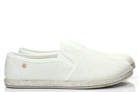 Białe tenisówki typu slip on - Obuwie