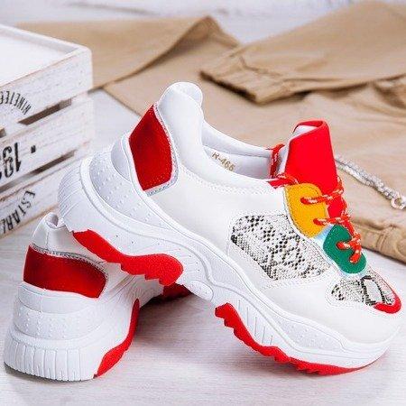 Białe ugly shoes na grubej podeszwie Dori - Obuwie