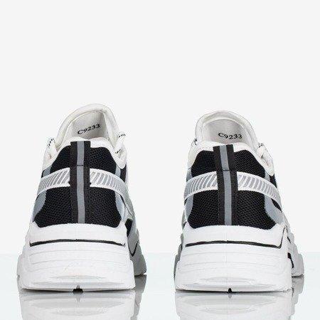 Biało czarne buty sportowe z holograficznymi wstawkami Shavona Obuwie
