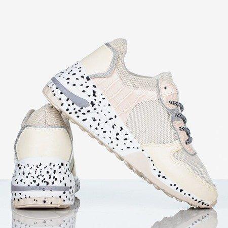 Biało - kremowe sportowe sneakersy damskie Be The One - Obuwie