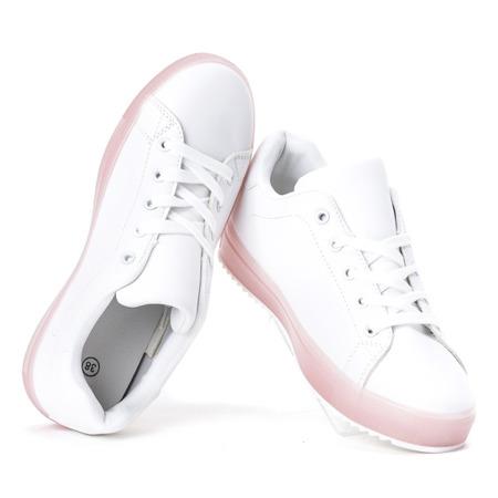 Biało - różowe tenisówki Robinson - Obuwie