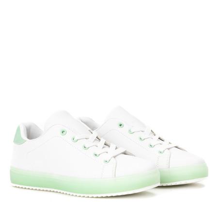 Biało - zielone tenisówki Ivye - Obuwie