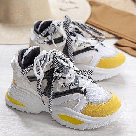 Biało-żółte buty ugly shoes Manhetten - Obuwie