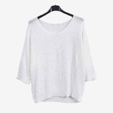 Biały damski sweter - Odzież