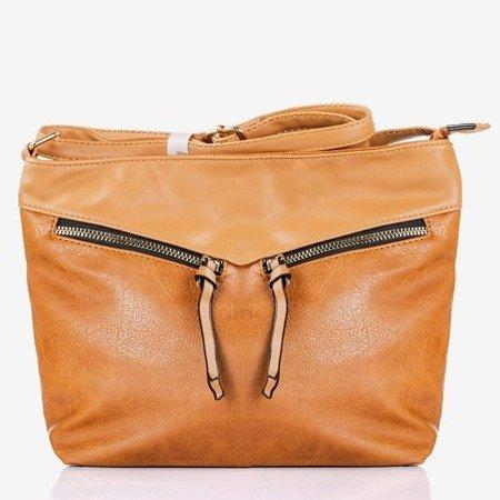 Brązowa duża torebka na ramię - Torebki