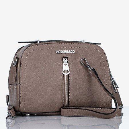 Brązowa mała torebka na ramię - Torebki